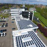 Zonnepanelen plat dak BMW