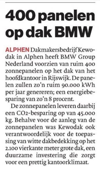Algemeen Dagblad zonnedaken