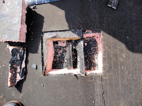 Branddoorslag dak