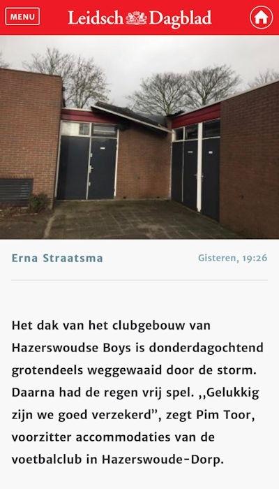 Leidsch Dagblad stormschade 1