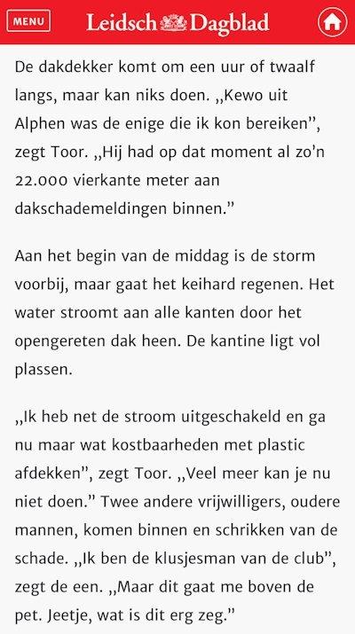 Leidsch Dagblad stormschade 2