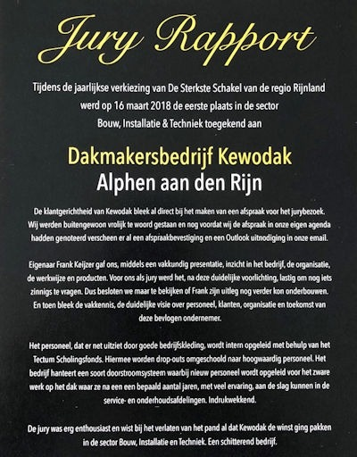 Jury rapport Kewodak